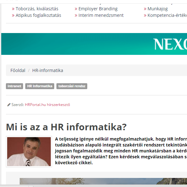 HR Portál – Mi is az a HR-Informatika?