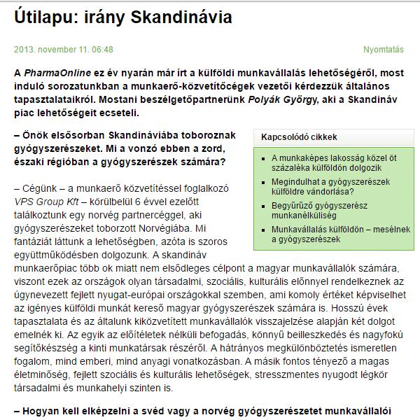 Pharmaonline – Irány Skandinávia